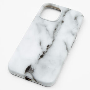 White Marble Protective Phone Case - Fits iPhone 12 Pro Max,