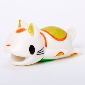 Lucky Cat Cable Critter - White,