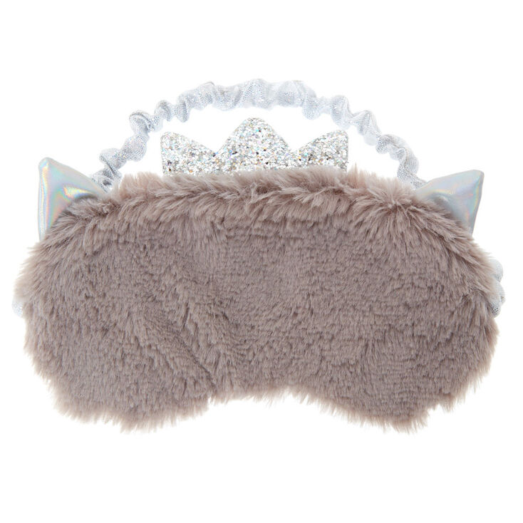 Furry Princess Cat Sleeping Mask - Gray,