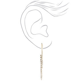 Silver 40MM Fringe Hoop Earrings,