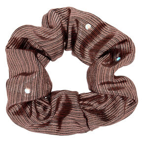 Metallic Lurex Gemstone Hair Scrunchies - Rose Gold,