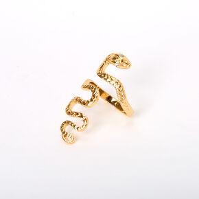 Gold Snake Statement Ring,