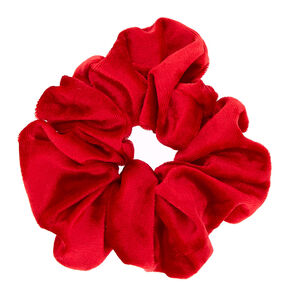 Large Velvet Hair Scrunchie - Red,