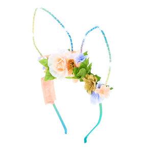 Light Up Bunny Ears Flower Crown Headband,