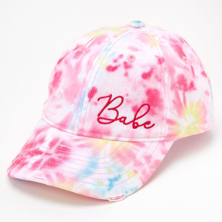 Babe Tie Dye Baseball Cap - Pink,