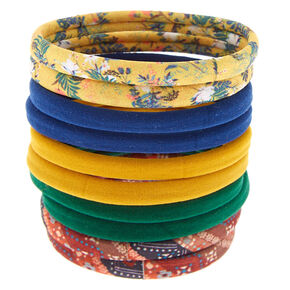 Rolled Vintage Floral Hair Ties - 10 Pack,