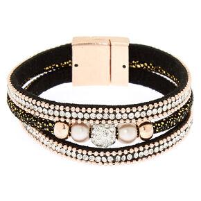 Embellished Fireball Wrap Bracelet - Black,