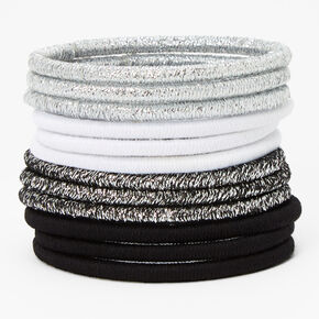 Neutral Lurex Hair Ties - 12 Pack,
