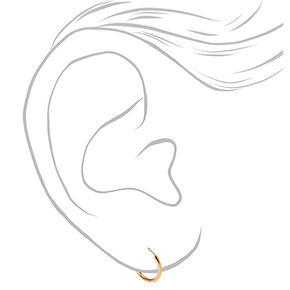 18kt Gold Plated Cubic Zirconia Stud & Hoop Earrings - 2 Pack,