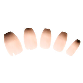 Black Ombre Coffin Tip Instant Nails,