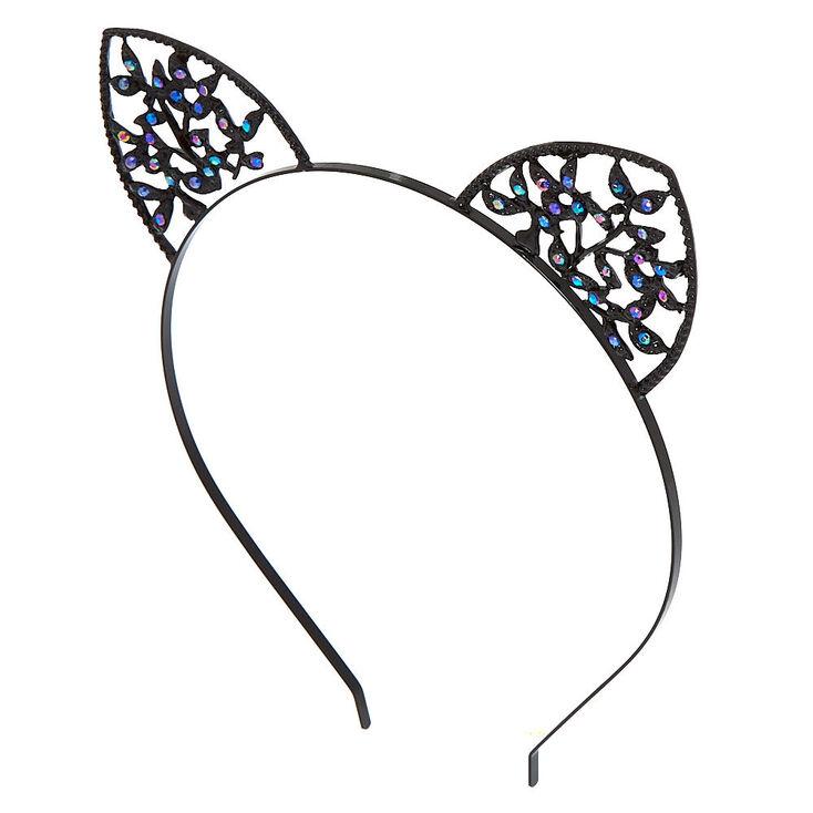 Ivy Cat Ears Headband - Black,