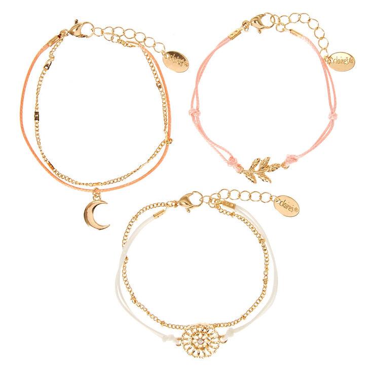 Gold Dainty Bracelets - 5 Pack,