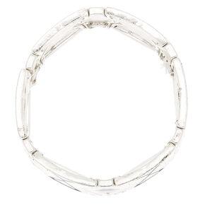 Silver Southwest Stretch Bracelet - Black,