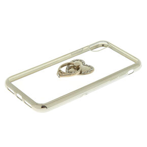 Heart Ring Stand Phone Case - Fits iPhone XR,