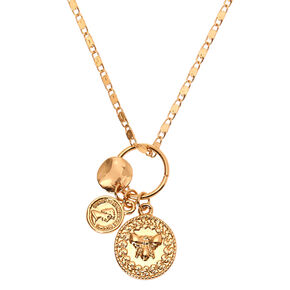 Gold Coin Pendant Necklace,