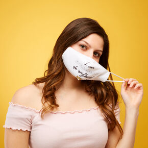 2021 Virtual Graduation Face Mask - White,