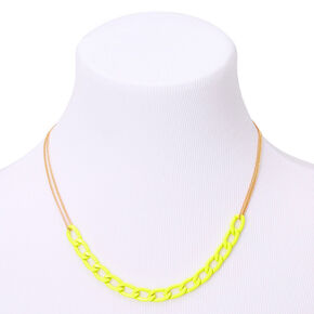 Gold Chain Link Statement Necklace - Yellow,