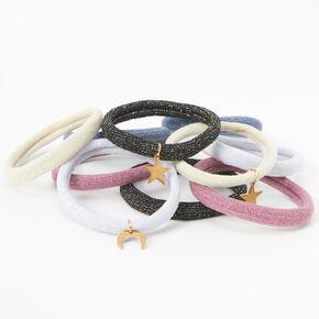Celestial Charm Rolled Hair Ties - 10 Pack,