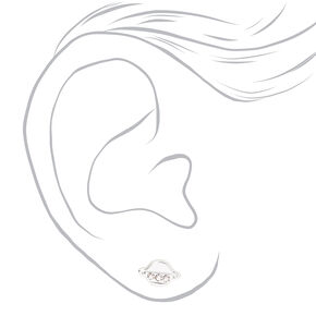 Sterling Silver Spaceship Mix & Match Stud Earrings - 2 Pack,