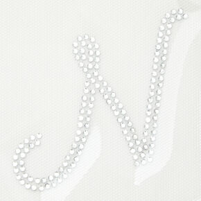 Rhinestone Iron-On Initial - N,