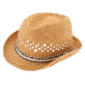 Fringe Fedora Hat - Black,