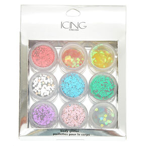 Rainbow Body Glitter Set - 9 Pack,