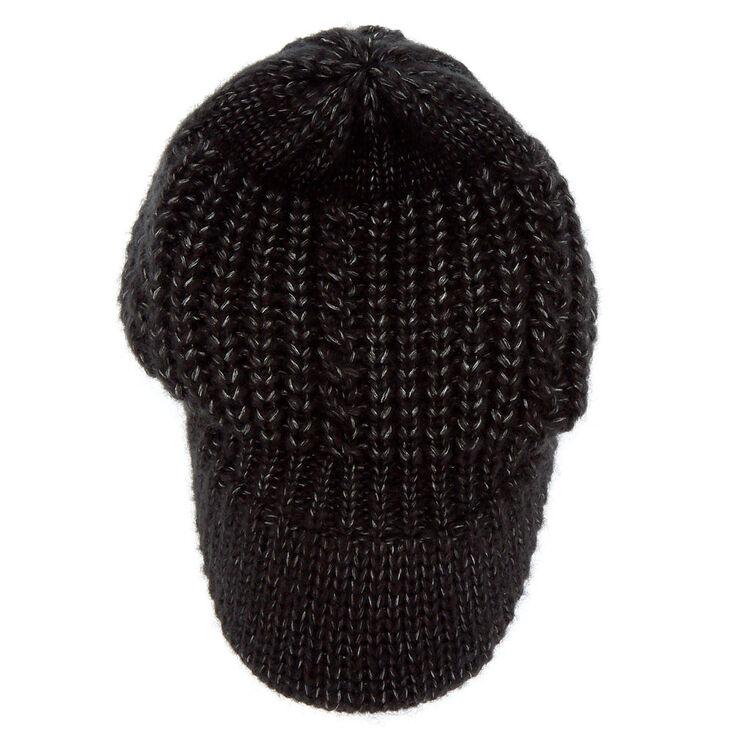 Knit Cabby Hat - Black,