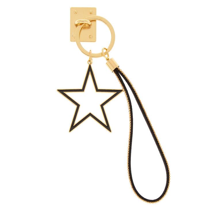 Star Charm Phone Wrist Strap - Gold,