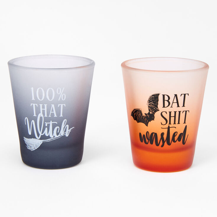 100% That Witch & Bat Shit Wasted Shot Glass Set - 2 Pack,
