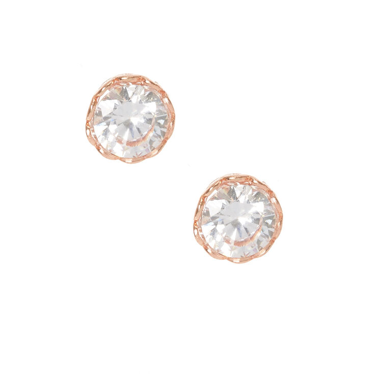 Gold Plated Crystal Heart Rimmed Earrings,