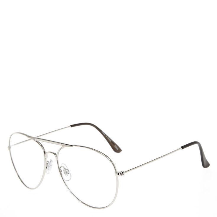 Silver Metal Aviator Glasses,