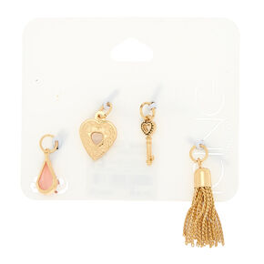 Gold Romantic Charms - 4 Pack,