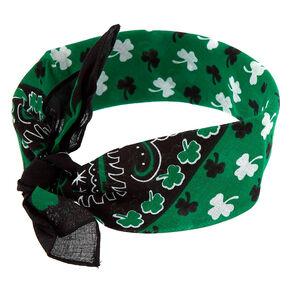 Irish Shamrock Bandana Headwrap - Green,