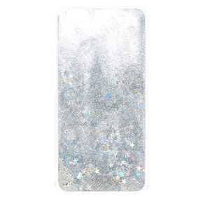 Iridescent Star & Glitter Liquid Fill Phone Case - Fits iPhone 6/7/8 Plus,
