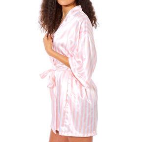 Blush Pink Striped Robe,