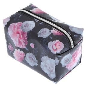 Floral Makeup Bag - Black,