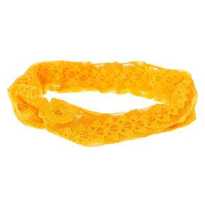 Lace Headwrap - Mustard,