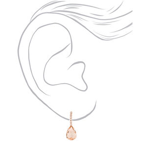 Rose Gold Rhinestone Teardrop Jewelry Set - 2 Pack,