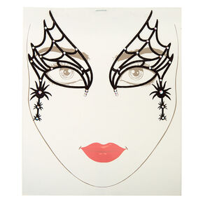 Spider Glitter Face Tattoos,