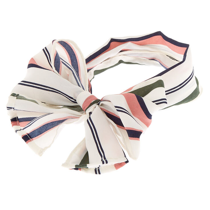 Multi Stripe Headwrap Scarf,