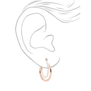 Mixed Metal Twisted 25MM Hoop Earrings,
