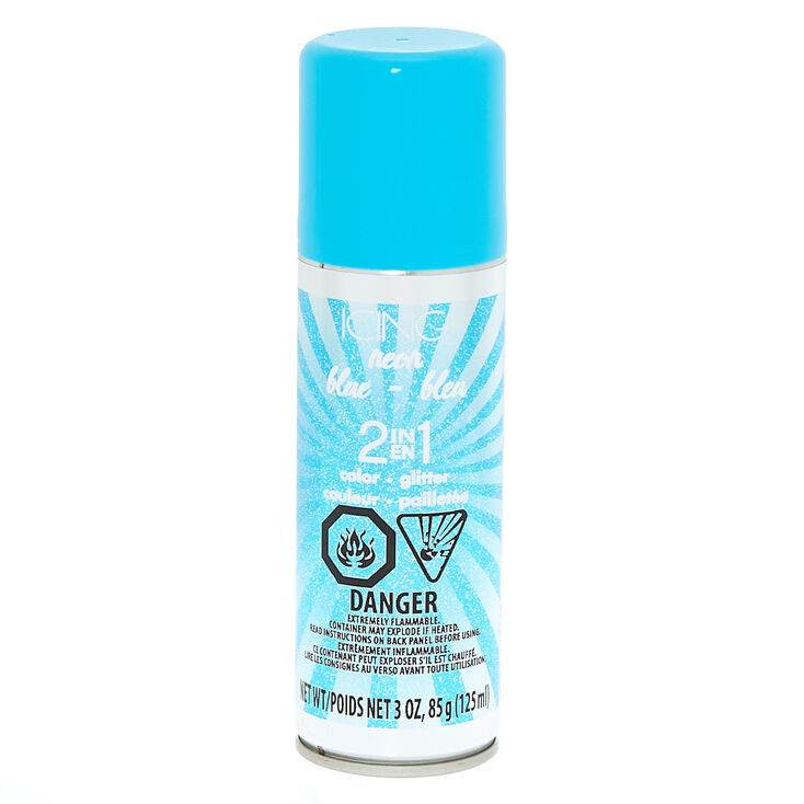 Neon Glitter 2 in 1 Temporary Hair Color - Blue,