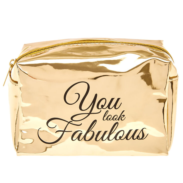 Metallic Gold Makeup Bag,