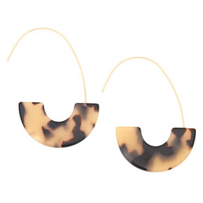 Gold 55MM Tortoiseshell Hoop Earrings,