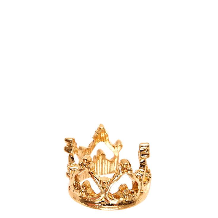 Gold Tone Crown Ear Cuff,