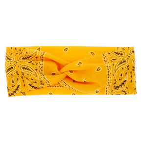 Bandana Twisted Headwrap - Yellow,