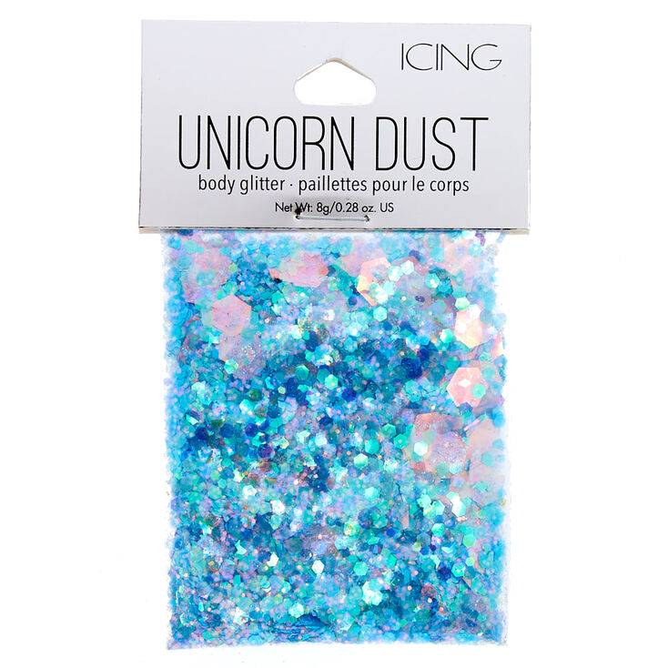 Light Blue Unicorn Dust Glitter Pouch,