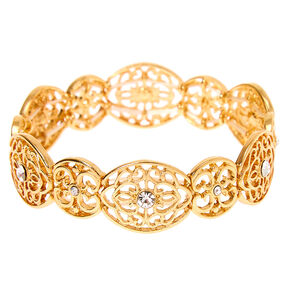 Gold Filigree Stretch Bracelet,
