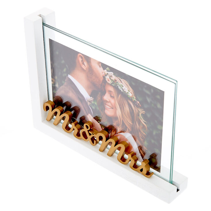 Mr. & Mrs. Photo Frame - White,