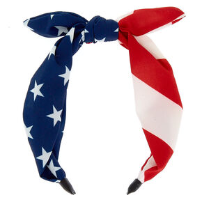 American Flag Tied Headband,